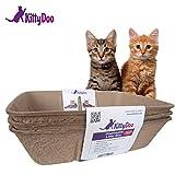 KittyDoo - 3 STK. Bio Katzen Toilette, Kompostierbar, Hygienisch, Geruchsarm (3 Pack)