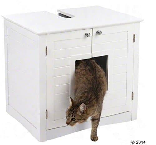 Elegante Schranktoilette für Katzen