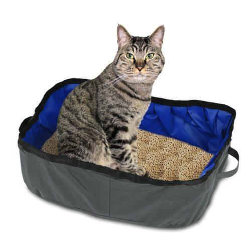 Faltbare Katzentoilette zum Mitnehmen